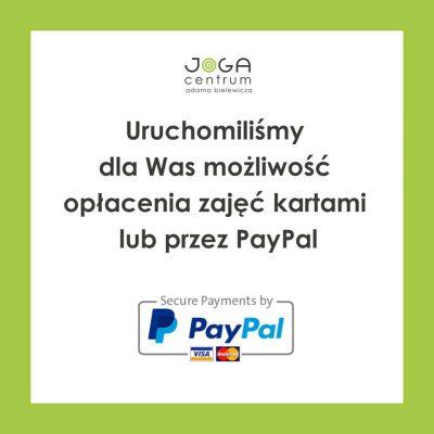 Uruchomiliśmy dla Was możliwość opłacenia zajęć kartami lub przez PayPal